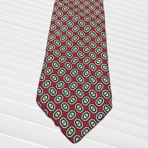 Brooks Brothers Makers Red & Yellow Silk Tie